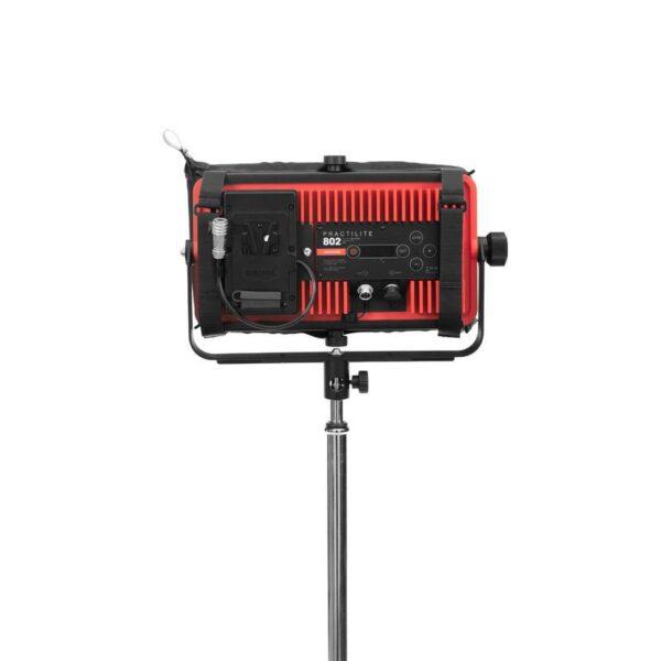 kinotehnik practilite802 practilite 802 ledpanel led panel dmx weatherproof location lights outdoors batteryoperated v-lock snapbag dopchoice