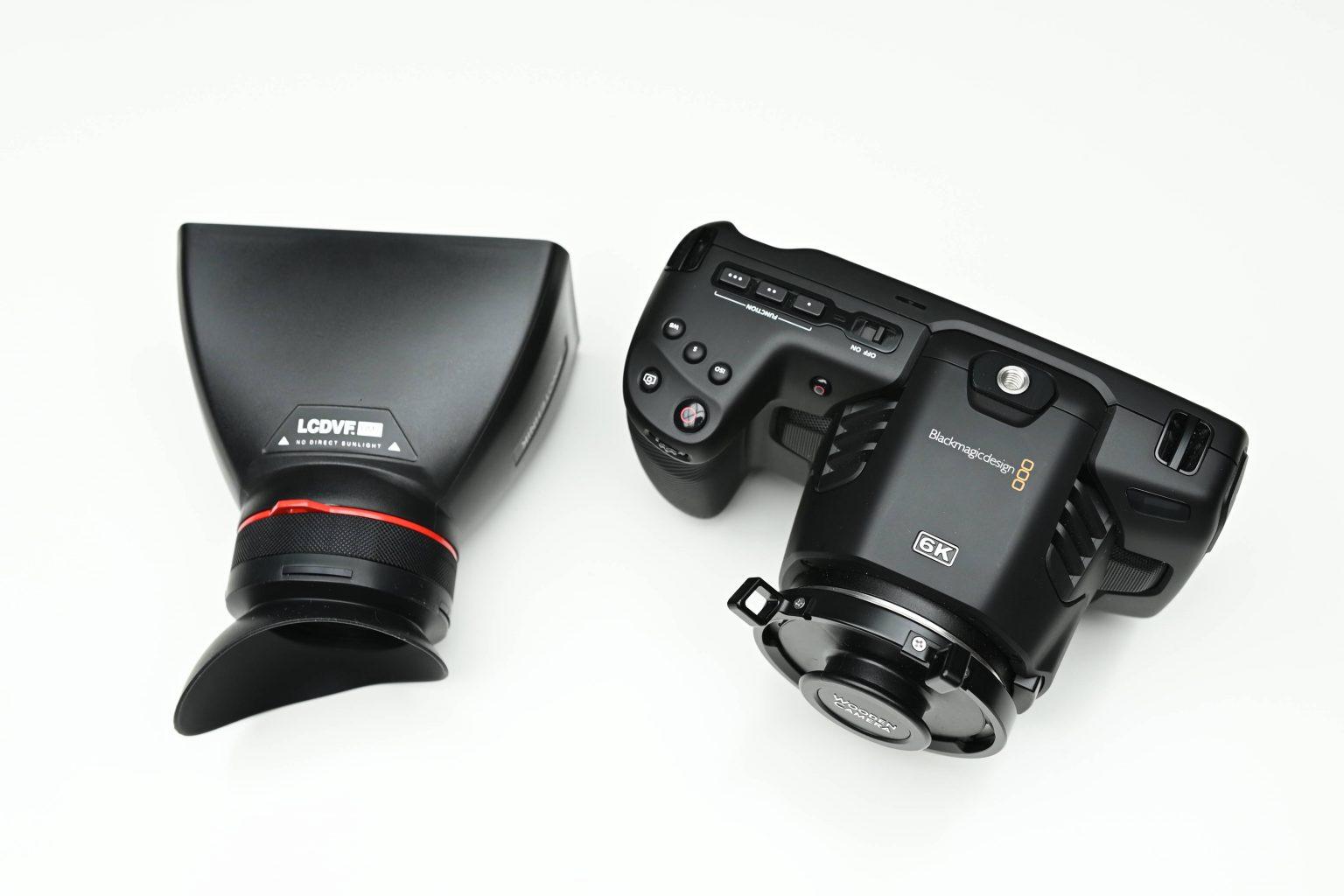 LCDVFBM5 LCDVF Viewfinder BlackMagic 4K and 6K sun hood screen video BMPCC 4K 6K review